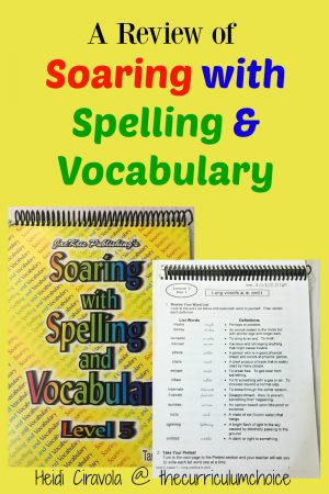 A Review of Soaring with Spelling and Grammar from The Curriculum Choice