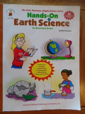 If you are looking for a very helpful resource for elementary earth science, my family recommends Hands-On Earth Science.