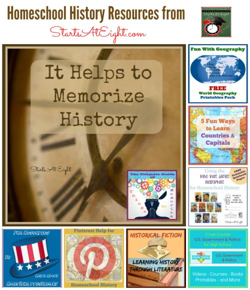 Homeschool History Resources from Starts At Eight