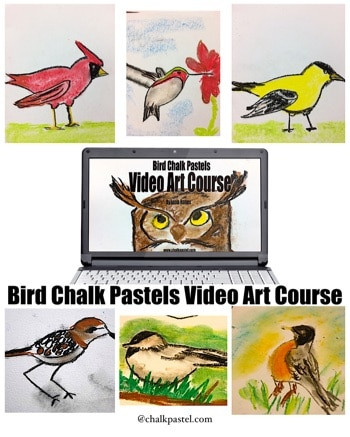 All online video art courses from ChalkPastel.com are appropriate for ALL ages. If they can hold the chalk pastel, they can do the drawing!