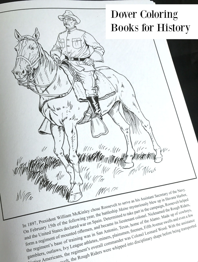 5 Reasons To Use Dover Coloring Books for History - The ...