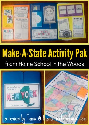 Make-A-State Activity Pak {from Home School in the Woods}