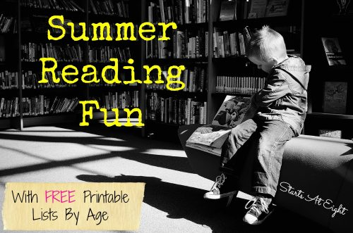 Summer Reading Fun - Summer reading list by age with free printable lists for tracking!