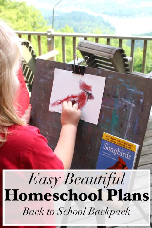 With these easy beautiful homeschool plans the shopping and the planning is even done for you! Poetry, fine arts, nature study, good books and more!