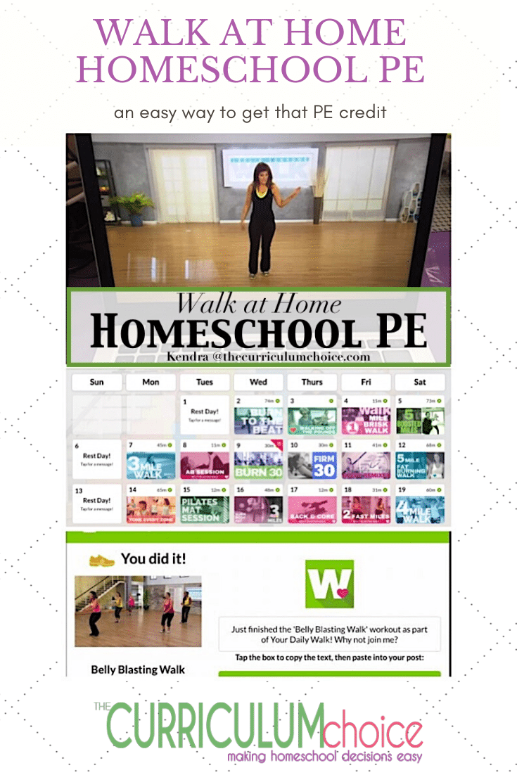 Walk at Home Homeschool PE - We really love this app! It's such a simplistic way to get your daily workout in. For a teen is an easy way to get that PE credit and it's way cheaper than a gym membership too!