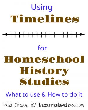 Using Timelines for Homeschool History Studies is an easy and adaptable way to follow history chronologically and use with multiple ages.