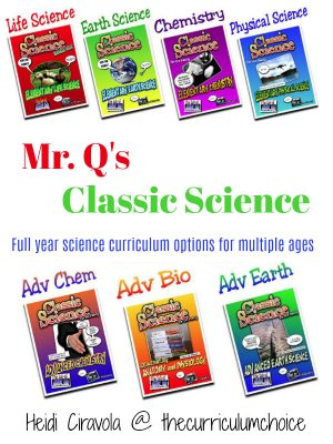 Mr Qs Classic Science - Full year homeschool science curriculum options for multiple ages.