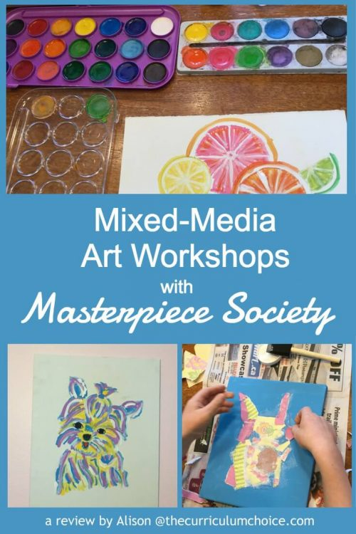 Art Curriculum for Your Homeschool - A Review of Masterpiece Society's Mixed-Media Art Workshops