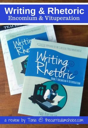 Writing & Rhetoric: Encomium & Vituperation