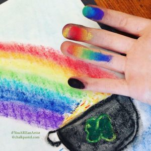 the spring homeschool with spring chalk pastel art lessons