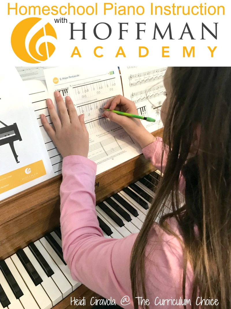 Homeschool Piano Instruction with Hoffman Academy from Heidi Ciravola @ The Curriculum Choice