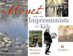 Monet and the Impressionists for Kids by Carol Sabbeth is a brief introduction to the artists themselves, their paintings, and the world of the Impressionists.