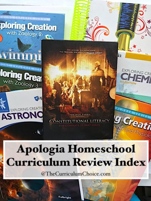 Apologia Homeschool Curriculum Review Index - The Curriculum Choice