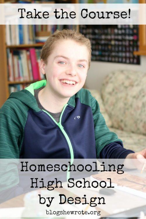 Homeschooling High School eCourses from Heather at Blog, She Wrote. The goal of these courses is to help homeschooling parents to step forward with confidence into the high school years.