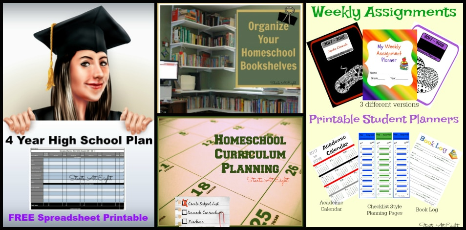 Homeschool Organization from Starts At Eight at The Curriculum Choice