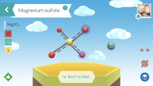 Screen shot image from the digital app Happy Atoms