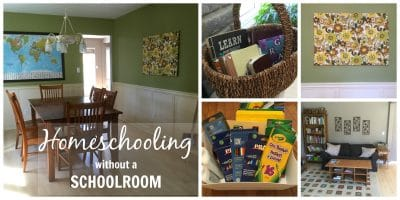 Homeschool Organization: Homeschooling without a schoolroom