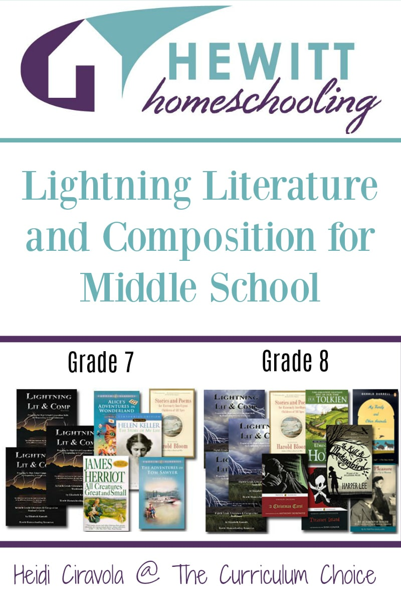 A Review of Lightning Literature and Composition for Middle School from Heidi Ciravola @ The Curriculum Choice