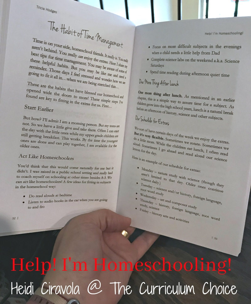 Help! I'm Homeschooling! is a small book with a big message...You can homeschool! Up or down, good or bad, take deep breath and let Tricia's practical habits help your homeschool and household run more smoothly.