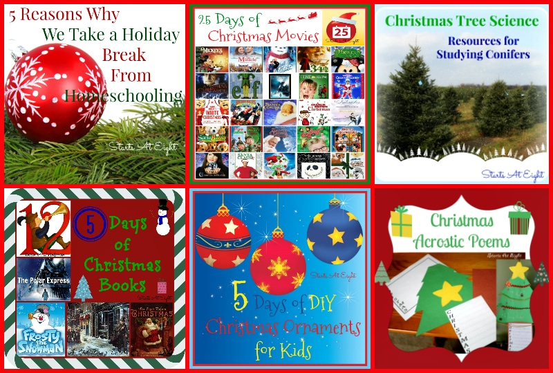 Ideas for The Holiday Homeschool from Starts At Eight