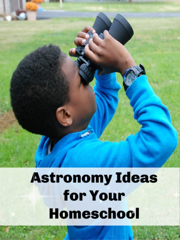 Begin with NO equipment or special tools! Go outside with your kiddos, especially at nighttime with a full moon or sky of stars, look UP and ask 'what's that?' Astronomy Ideas for Your Homeschool.