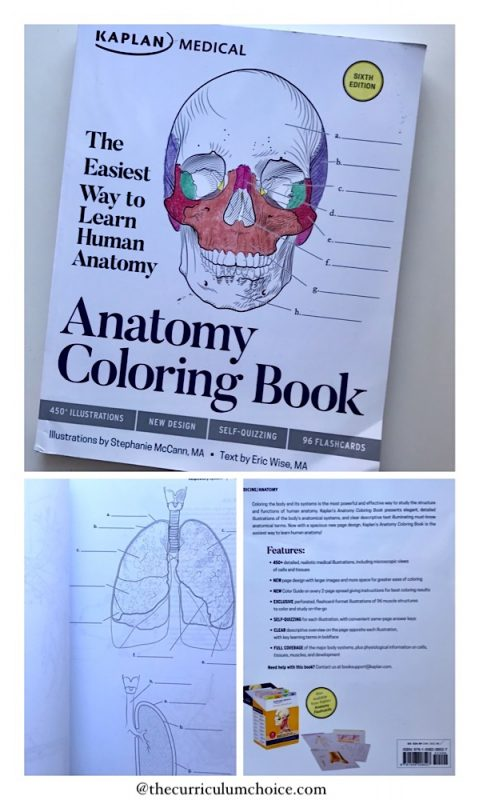 Advanced Biology Anatomy Coloring Book