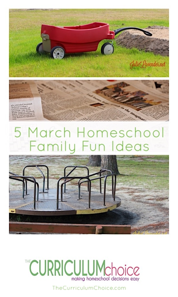 March hints that spring is around the corner. Incorporate all sorts of green merriment into the month of March. Celebrate with these March homeschool family fun ideas or create a few of your own.
