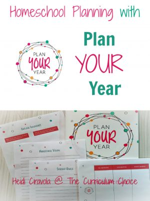Homeschool Planning with Plan Your Year is a flexible and low stress way to look at each of your children, and yourself, to create a homeschool plan that works for you. A Review from The Curriculum Choice