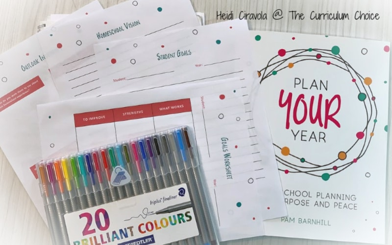 Homeschool Planning with Plan Your Year (A Review from The Curriculum Choice) is a flexible and low stress way to look at each of your children, and yourself, to create a homeschool plan that works for you.