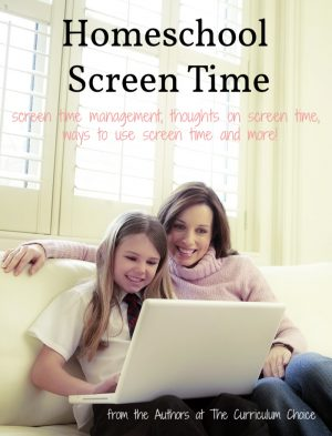 This is a collection of homeschool screen time ideas from the authors at The Curriculum Choice. Find tips on screen time, suggestions for screen time usage and more!