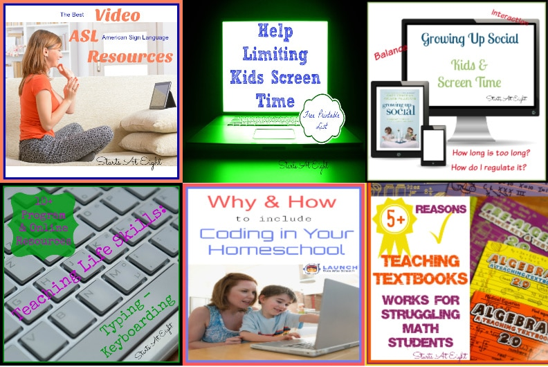 Homeschool Screen Time from Starts At Eight