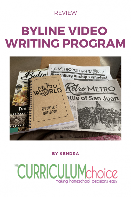 """Writing is magical!"" Any video writing program that can make my kid declare that writing is magical is getting huge thumbs up from this Mamma. Kendra's review of Byline for homeschool writing."