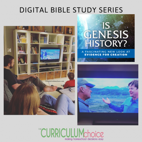 Is Genesis History? This homeschool year we enjoyed some evening family time with this excellent digital Bible study series resource from Compass Classroom. One of our favorite times of learning is when we wait until Dad is home. I love the family discussions and world view question and answer sessions promoted by great homeschool resources like these.