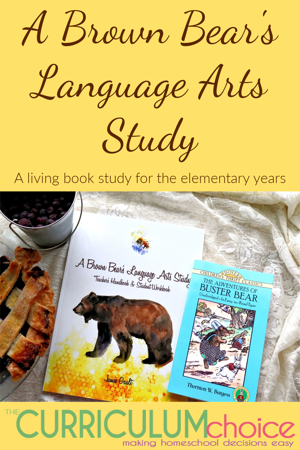 A Brown Bear's Literature Study is designed for 9-11 year old children, creatively presents a Bible-based, literature-inspired study that takes an imaginative adventure through Thornton Burgess's delightful story, The Adventures of Buster Bear.