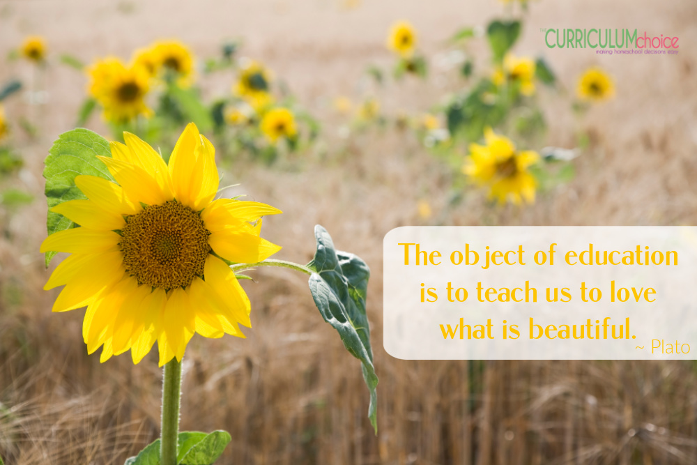 The object of education is to teach us to love what is beautiful. ~Plato