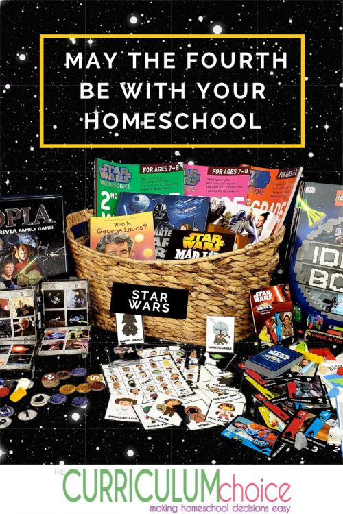 Because we are huge Star Wars fans, our family goes all in for May the Fourth Be With You. Last year we enjoyed a Star Wars morning basket for May the Fourth.  What better way to celebrate May the Fourth as a homeschool family that than with a Star Wars unit study? May the Fourth Be With Your Homeschool!