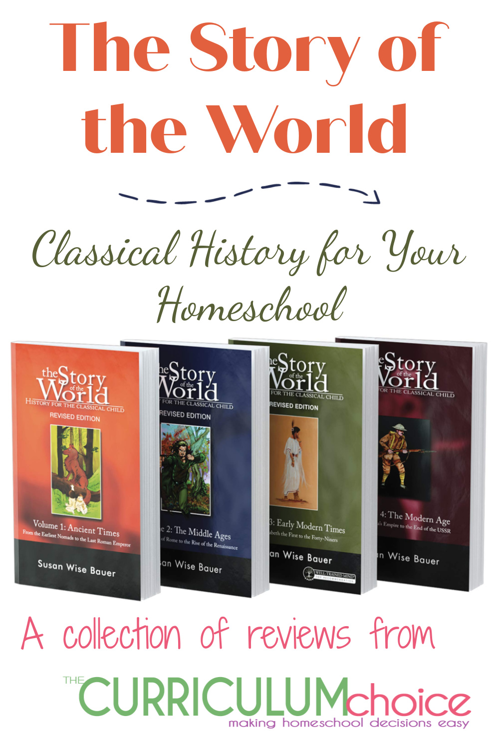 The Story of the World is a classically based, homeschool history curriculum for kids in grades 4-8. This is collection of reviews from the authors at The Curriculum Choice.