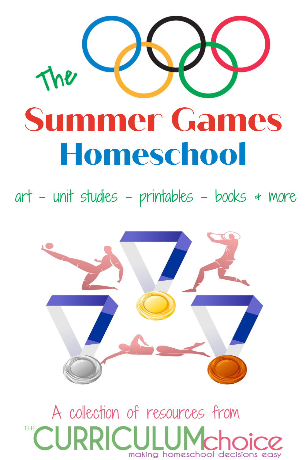 The Summer Games Homeschool - a collection of resources for learning about and celebrating the Summer Olympic Games. Art, unit studies, printables, books and more from The Curriculum Choice.