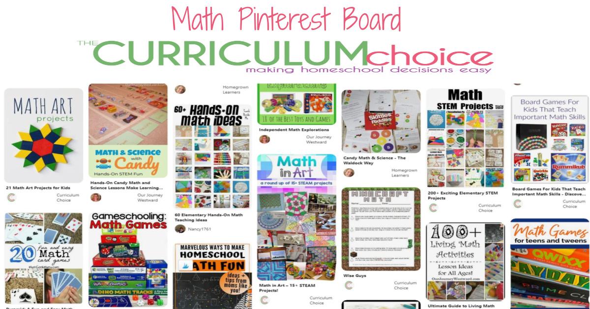 Math Pinterest Board from The Curriculum Choice