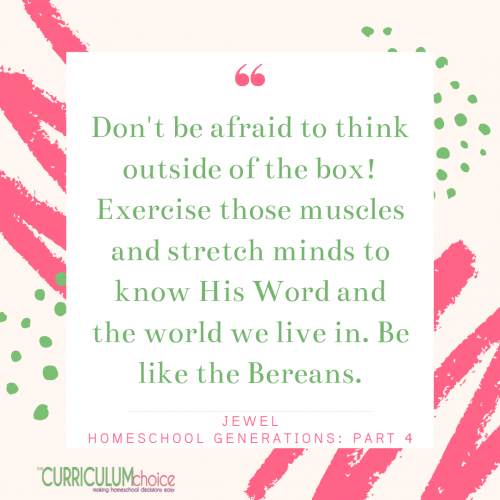 Don't be afraid to think outside of the box! Hope for Future Homeschool Generations: Homeschool Generations Part 4 with encouragement/advice for the new homeschooler. Looking ahead to the future of homeschooling.