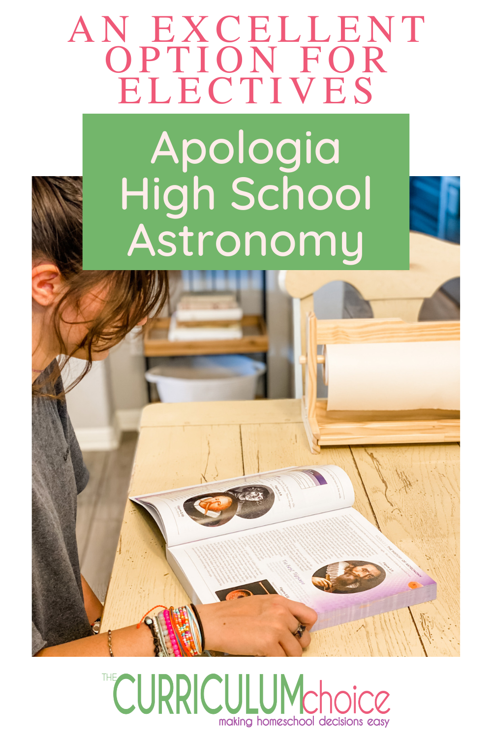 If your Christian teen need's an elective, check out the Apologia High School Astronomy Course. It's not your typical high school course! #highschoolcurriculum #thecurriculumchoice #homeschool #homeschoolelectives #homeschoolhighschool