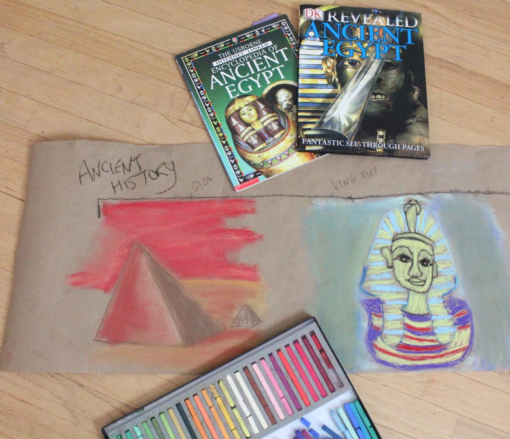 Ancient History with Chalk Pastels from You Are An Artist