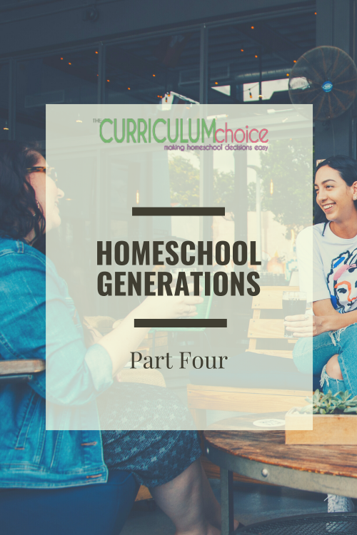Homeschool Generations Part 4: Looking ahead to the future of homeschooling and encouragement/advice for the new homeschooler.