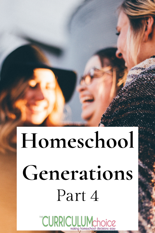 Hope for Future Homeschool Generations: Homeschool Generations Part 4 with encouragement/advice for the new homeschooler. Looking ahead to the future of homeschooling.