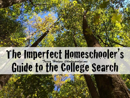 The Imperfect Homeschooler's Guide to the College Search - a help for getting your homeschooled high schooler ready for college.